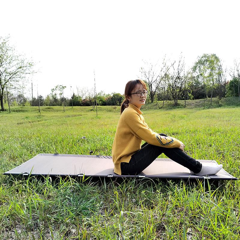 New Portable Ultralight Aluminum Alloy Travel Hiking Sturdy Comfortable Folding Sleeping Bed