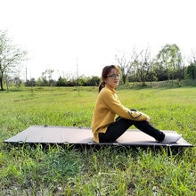 Nouveau Portable ultra-léger en alliage daluminium voyage randonnée robuste confortable lit de couchage pliant