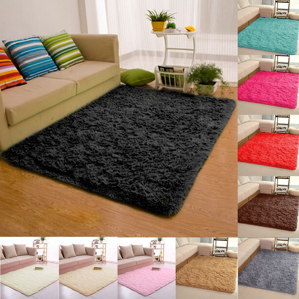 fluffy rugs carpet thicker bathroom non slip mat area rug for living room soft child bedroom mat home decor shaggy area rug mats Fluffy Rugs Anti-Skid Shaggy Area Rug Dining Room Carpet Floor Mat Home Bedroom Carpet Doormat Non-slip Mat Home Decors Rugs