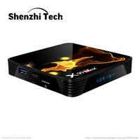 Цифровой Смарт ТВ-приставка X99 Max PLUS 8K 2021, Android, Amlogic S905x3, DDR3, 4 Гб ОЗУ, 128 Гб ПЗУ, ТВ-приемник с Wi-Fi-медиаплеером