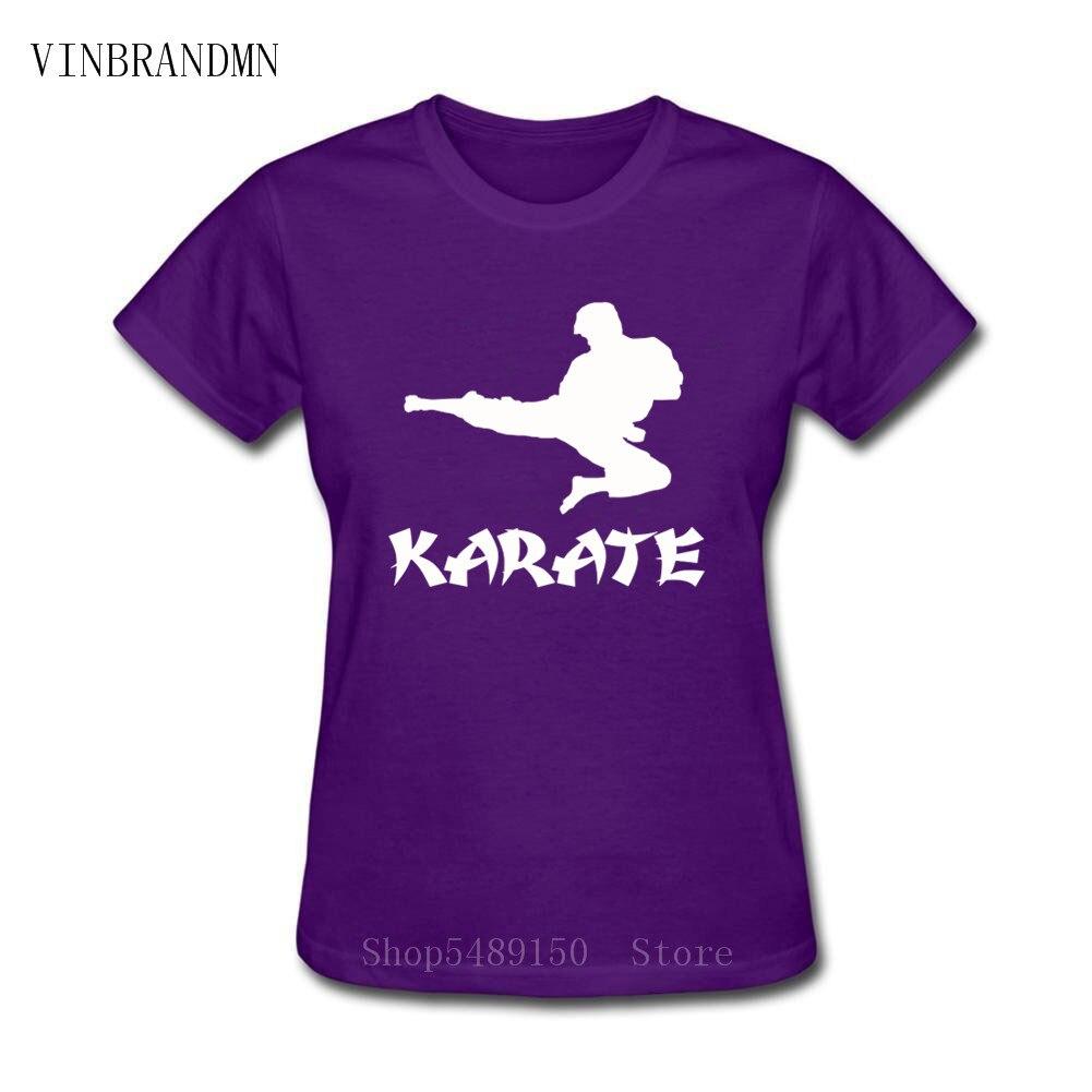 Kickboxing, camisetas de mujer para Karate, camisetas de verano de artes marciales Jujitsu Cobra Kai, nueva camiseta de Taekwondo, camiseta de manga corta con cuello redondo para Kung Fu