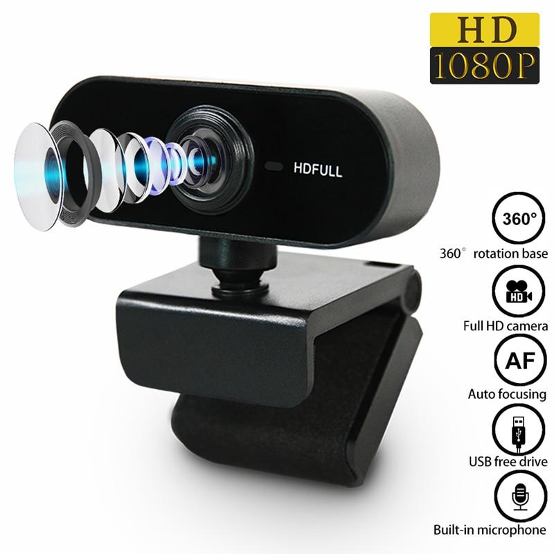 Webcam 1080P HD Mini Computer Web Camera With Microphone USB Plug Web Cam for Mac Laptop PC Accessor
