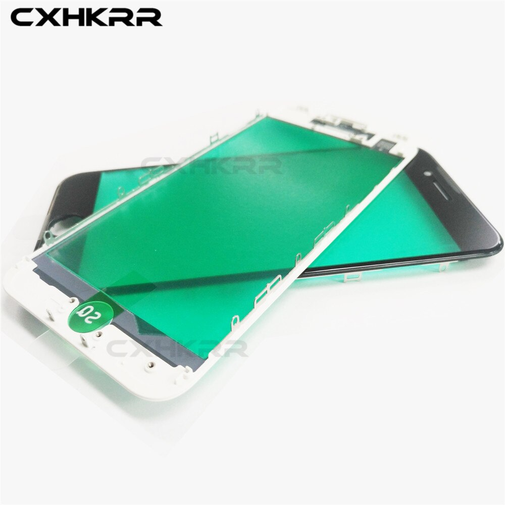 100% AAA Touch Panel Ersatz Für iPhone 6g 6s 6 Plus 7 7plus Front Outer Bildschirm Glas objektiv Mit Rahmen lünette Reparatur teile