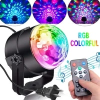 sound activated rotating disco ball dj party lights 3w 3led rgb led stage lights party lights