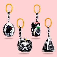 High Contrast Sensory toys Baby Toy Black And White Stroller Hanging Toys Pleasant Wind Bell Soothin