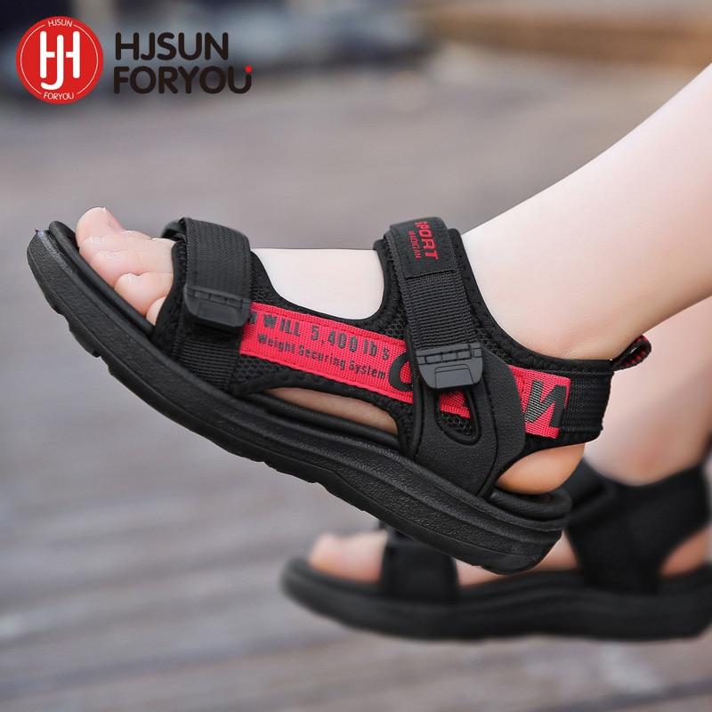 2021 Summer Children Shoes Brand Velcro Toddler Boys Sandals Girls Comfortable Sport Mesh Baby Beach