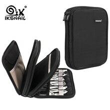 IKSNAIL Kabel Organizer Bag Elektronica Accessoires Reizen USB Drive Tassen 3 Lagen Grooming Kit Winder Management Storage Case
