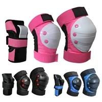40hot6pcsset adult kid roller skating knee wrist hand brace pads protective guard