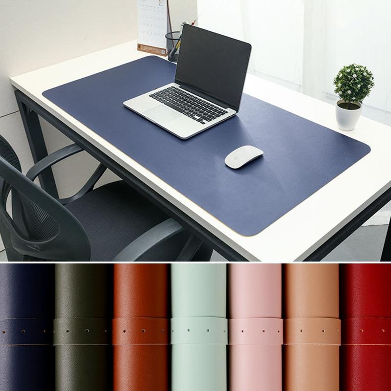 Alfombrilla para el ratón para juegos, alfombrilla protectora de superficie de descanso para escritorio de comedor, fácil de limpiar estera de escritura, de cuero PU, almohadilla para ordenador portátil