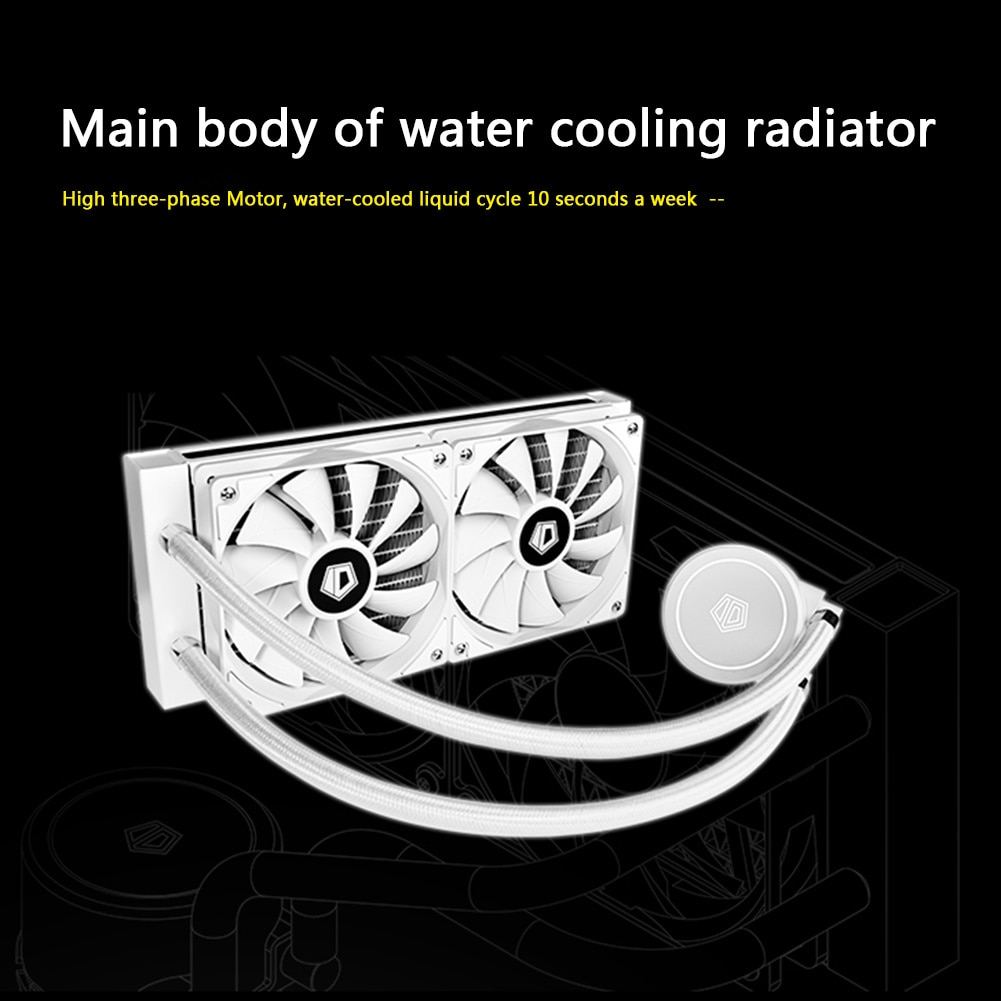 VODOOL PC Case Water Cooling Computer CPU Fan Water Cooler Radiator integrated Liquid Cooling for Intel LGA 2011 enlarge
