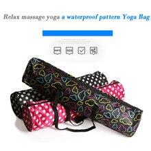 Fitness Backpack Canvas Yoga Bag Sports Gym Pack Large Capacity Waterproof Pilates Pad Bag Yoga Mat Bag