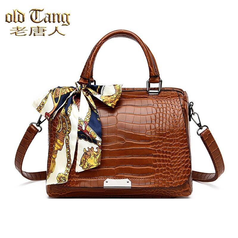 OLD TANG Luxury Alligator Women Handbags Designer Ladies Crocodile Pattern Shoulder Crossbody Bags f
