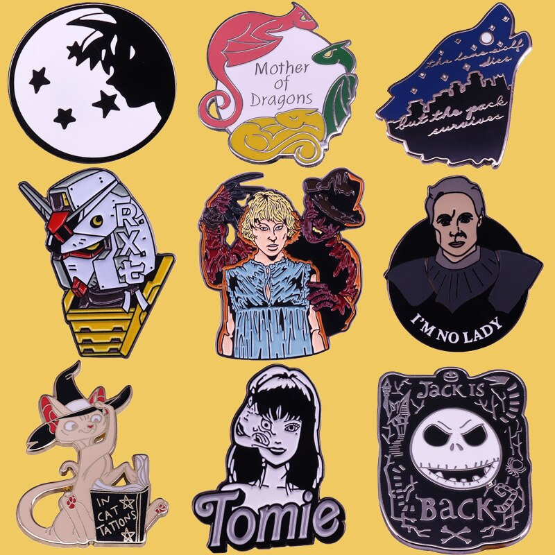 Broche de Metal de terror SP204 para regalos de Halloween, Pin de dibujos animados, broche de Anime Freddy krueger killer, alfileres, sombrero, insignia, joyería de película