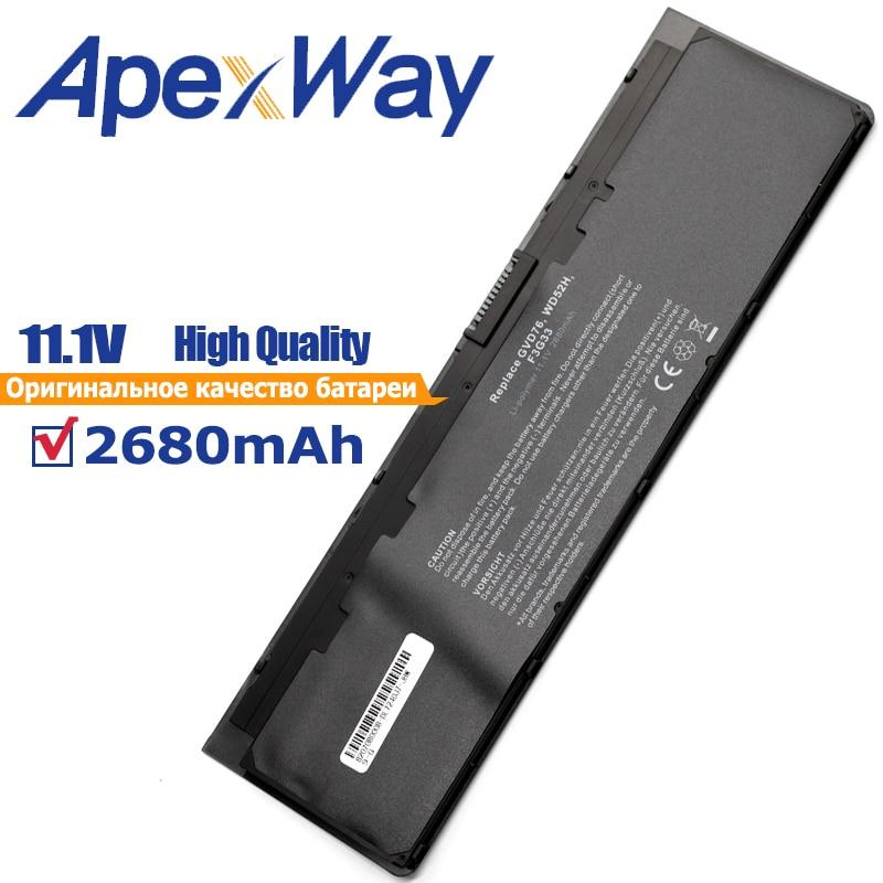 ApexWay Bateria 11.1 mAh 2680 V para Dell Latitude WD52H KWFFN J31N7 GVD76 HJ8KP NCVF0 0WD52H 0KWFFN PT1 12-polegada 7000 E7240 E7250