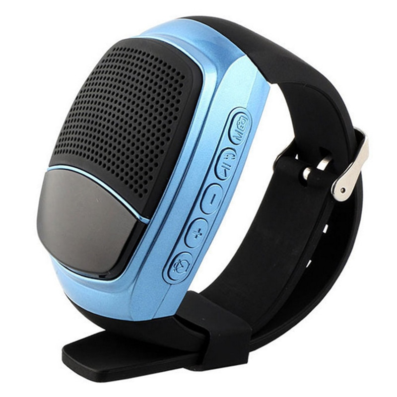 Relógio do orador de b90 bluetooth, orador esperto portátil multifuncional da pulseira dos esportes (azul)