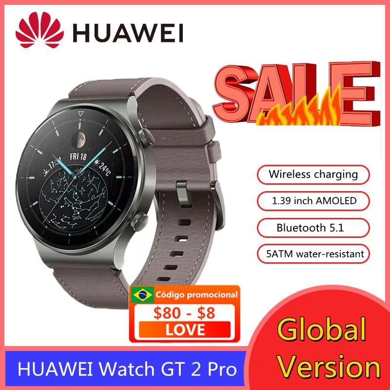 Original HUAWEI Smart Watch GT 2 Pro GT2 Smartwatch Sport Fitness 4G GPS Wireless Charging Kirin A1 for Men Women Watch FIT