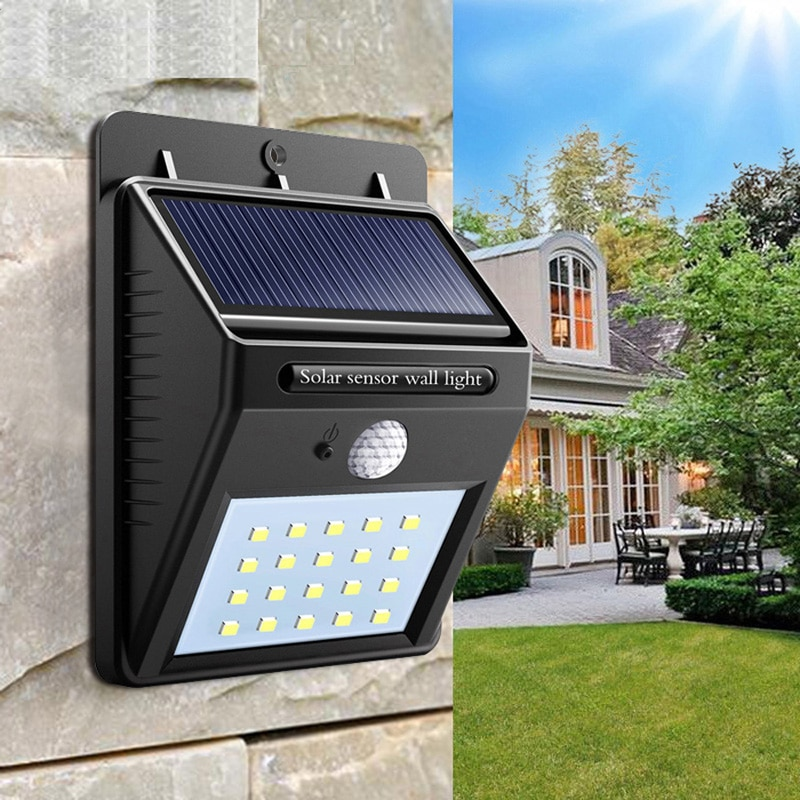 Водонепроницаемый настенный светильник на солнечной батарее, Уличное бра с пассивным ИК датчиком движения, садовое украшение для двора, ул...