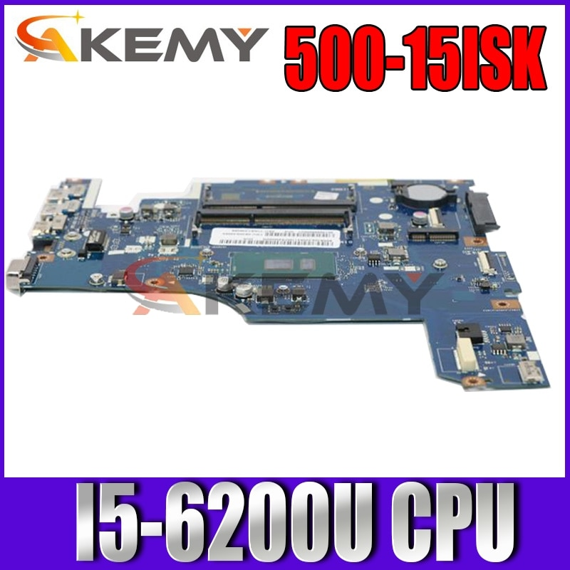 Akemy FRU 5B20K34587 AIWZ2 AIWZ3 LA-C853P اللوحة الرئيسية لينوفو 500-15ISK اللوحة الأم SR2EY I5-6200U