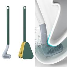 Spazzole da toilette in Silicone da Golf con Set di supporti spazzola per la pulizia della toilette a manico lungo accessori da bagno igienici moderni neri