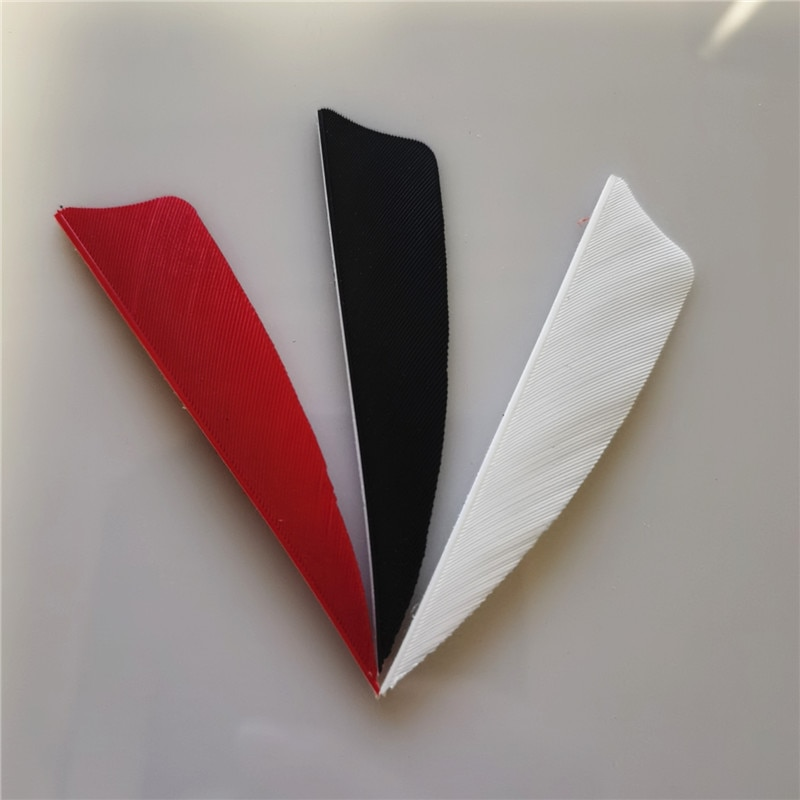 50Pcs 3inc Arrow Feather Black Red White Arrow feather accessories outdoor hunting competition arrow hall