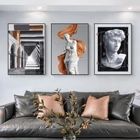 architecture gothic broken arm statue david painting modern decorative picture canvas wall art poster for room decor