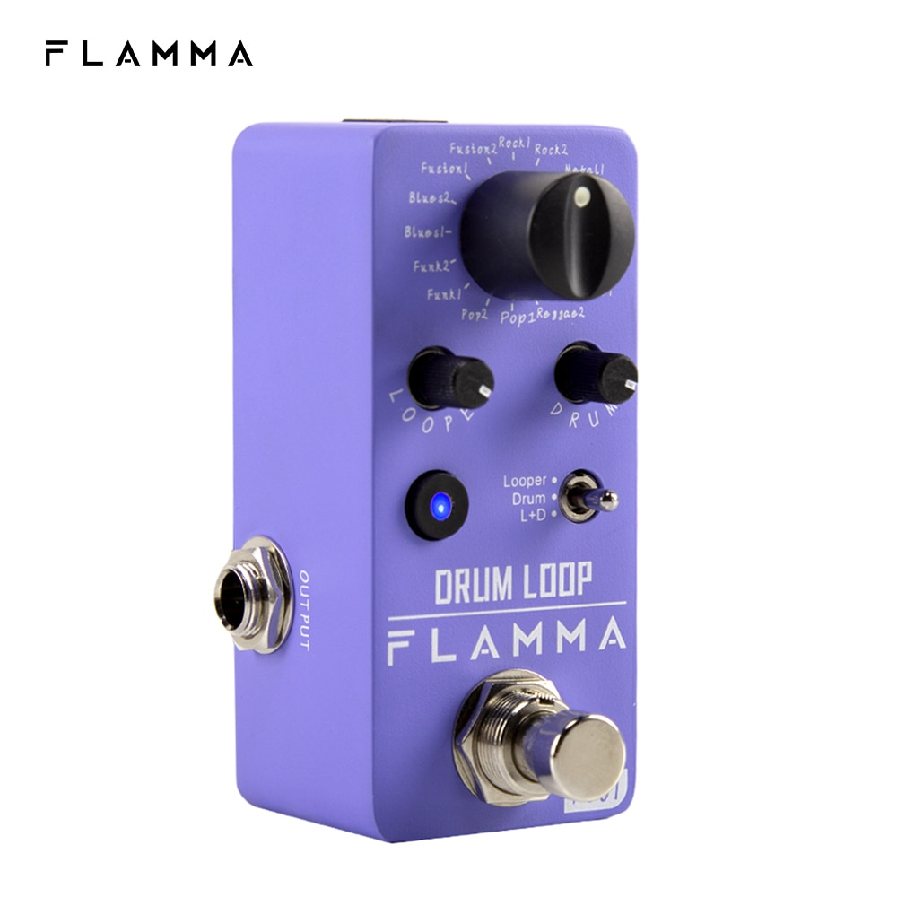 فلاما FC01 طبل وبر دواسة الغيتار طبل حلقة الآثار دواسة مع 20 دقيقة تسجيل 16 طبل الأخاديد الحنفية الإيقاع