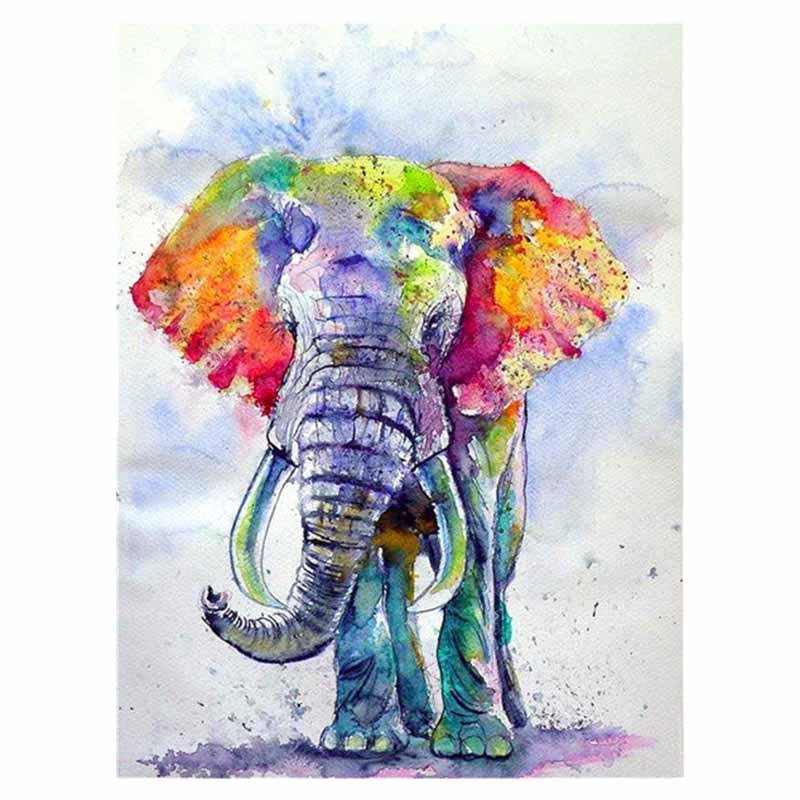 Animal Diamond Painting Full Square Elephant Diamond Embroidery Drill Rhinestones Paint Home Decor Gift