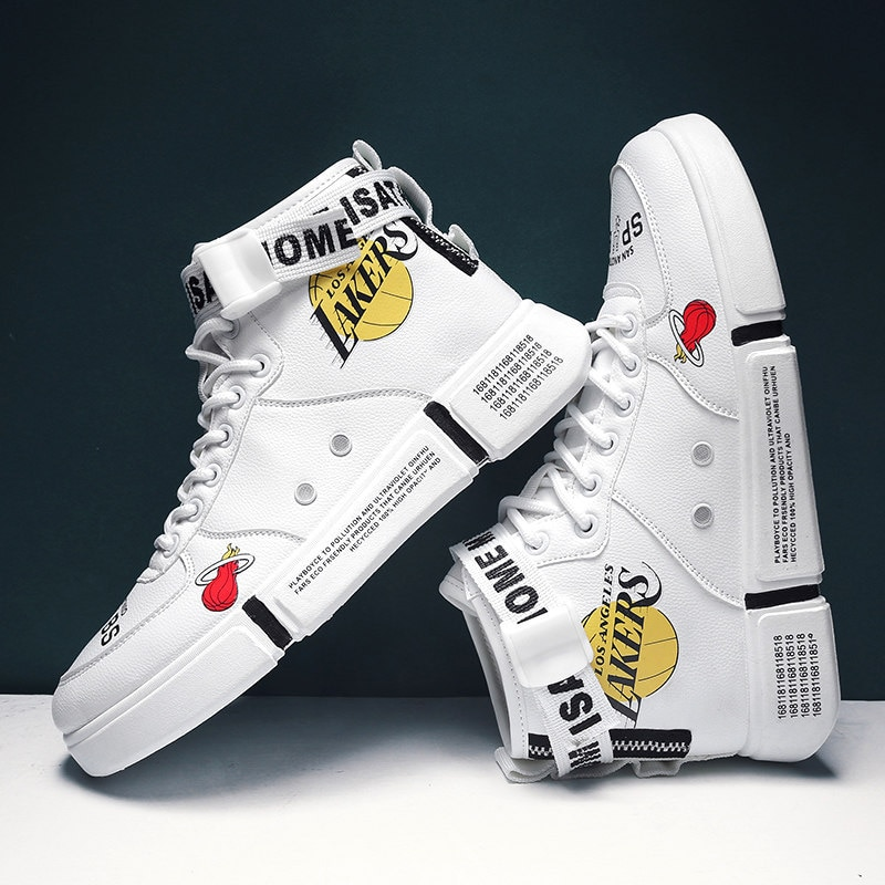 Boys Sports Shoes Spring And Autumn Models Big Breathable Trendy White Casual