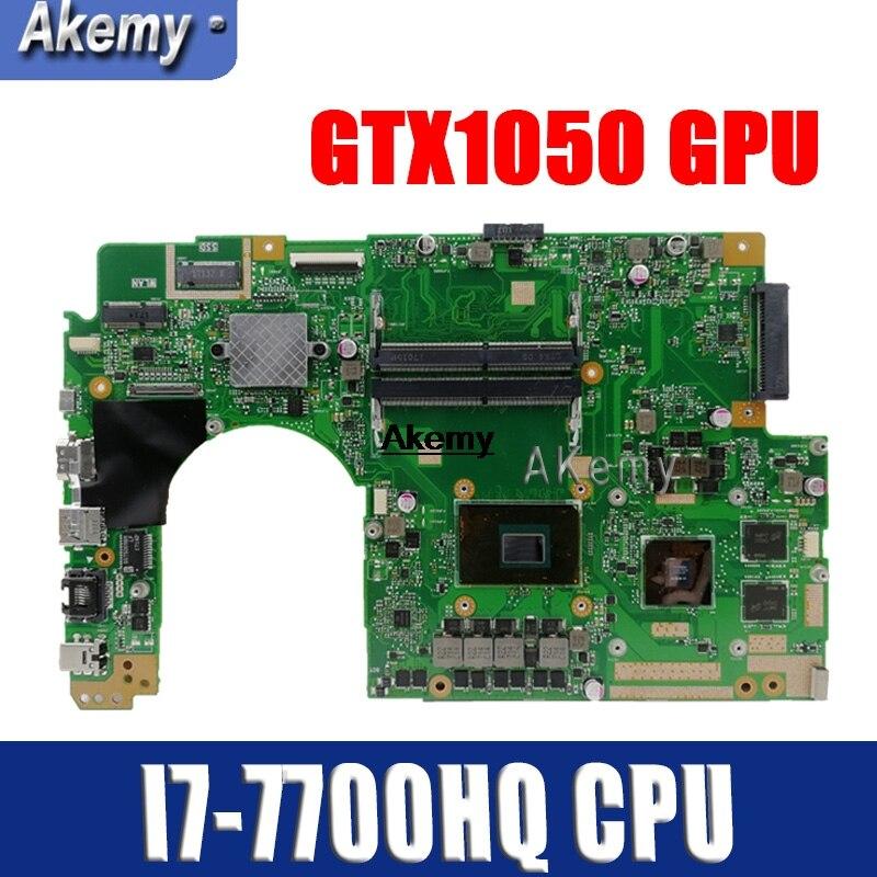 Für For Asus X580VN X580VD X580V Mainboard laptop Motherboard W/I7-7700HQ CPU GTX1050 GPU