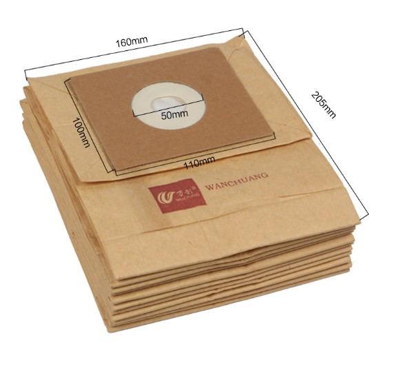 20PCS Dust Bags and Paper Bags + 2PCS Filter Cotton Vacuum Cleaner Accessories For QW12t-607 QZ11A QZ11C FC8334 etc