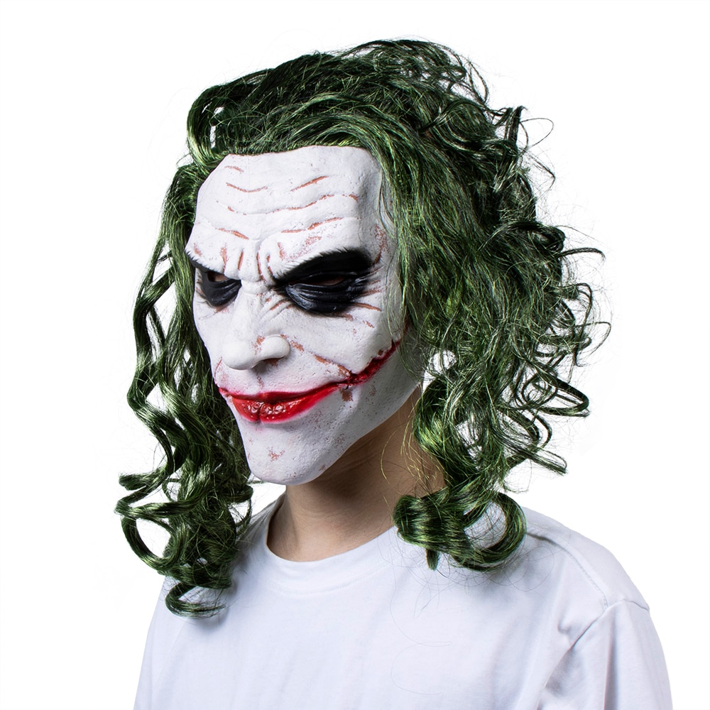 Купить с кэшбэком Joker Cosplay Mask Halloween Costumes Prop Jack Napier Greedy Latex Masks Funny Anime Mascarillas Party Masques