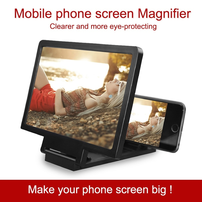 3D Screen Amplifier Mobile Phone Screen Video Magnifier display For Cell Phone Smartphone Enlarged Screen Phone Stand Bracket
