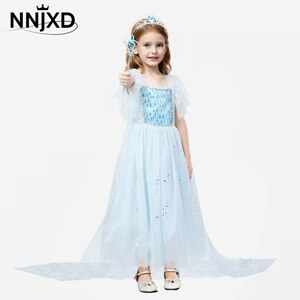 Dress for Girls Formal Birthday Frock Sequins Cloak Kids Party Dress Dress Magic Wand Cosplay Princess Costume