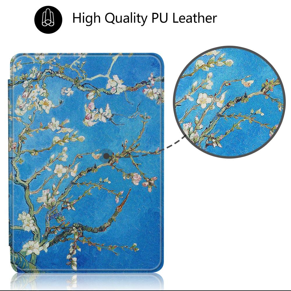 Capa para amazon kindle 4 caso folio magnético para amazon kindle 5 6 reader e-reader capa protetora pele + dom gratuito