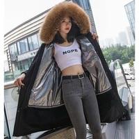 long parka jacket female winter real rabbit fur coat fashion luxurious overcoat 2020 new arrival