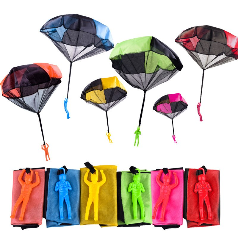 Children's Fun Mini Toy Soldier Throws A Parachute Outdoor Parent-Child Interactive Educational Sports Multi-Color Toy Gift