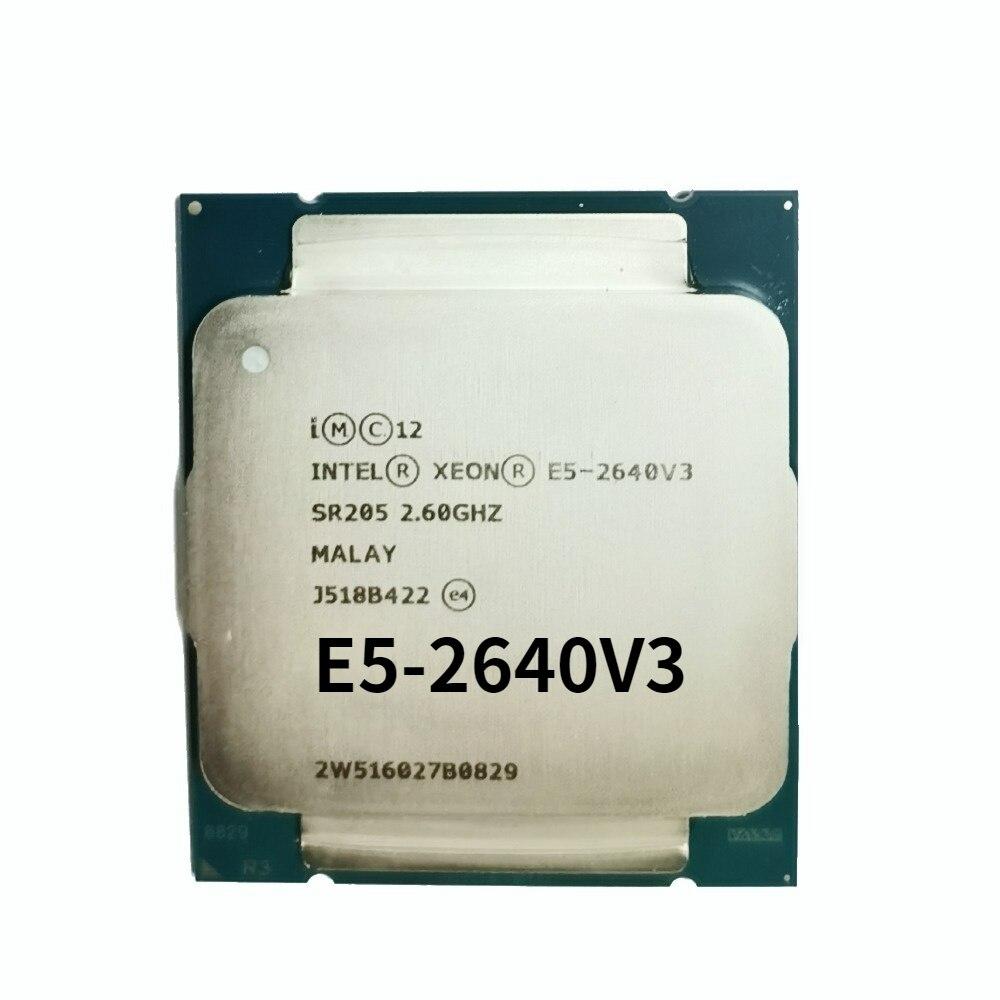 E5-2640v3 2.6GHz 20M 8 النواة 16 موضوع 90w LGA 2011-3 المعالج خادم ddr4 ذاكرة عشوائية