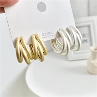new baroque style restoring ancient ways temperament c shape earrings contracted geometric stud earrings jewelry accessories
