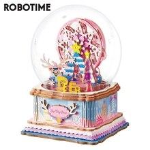 Robotime 2020 Новое поступление 7 видов DIY 3D Игра Головоломка сборка подвижная Музыкальная Коробка игрушка подарок для детей и взрослых