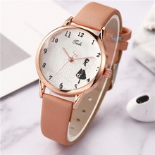 Printing Decoration Dial Girl Quartz Wristwatches Casual Sport Multi Color Creativity Exquisite Time
