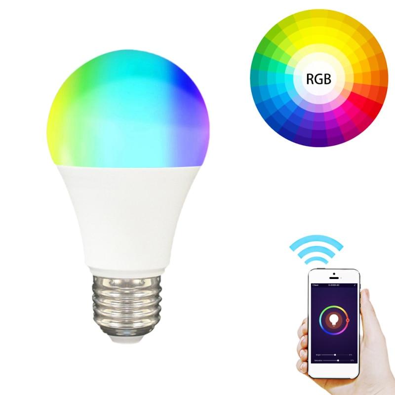 ZigBee Tuya E27 Zigbee RGB Smart LED Light Bulb Lamp Wireless Voice Control Automation Modules For Alexa Google Smart Home