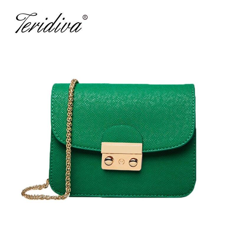 Teridiva, женские сумки, модный бренд, известный дизайнер, мини сумка на плечо, женская сумка через плечо с цепочкой, сумка-мессенджер, сумочка ...