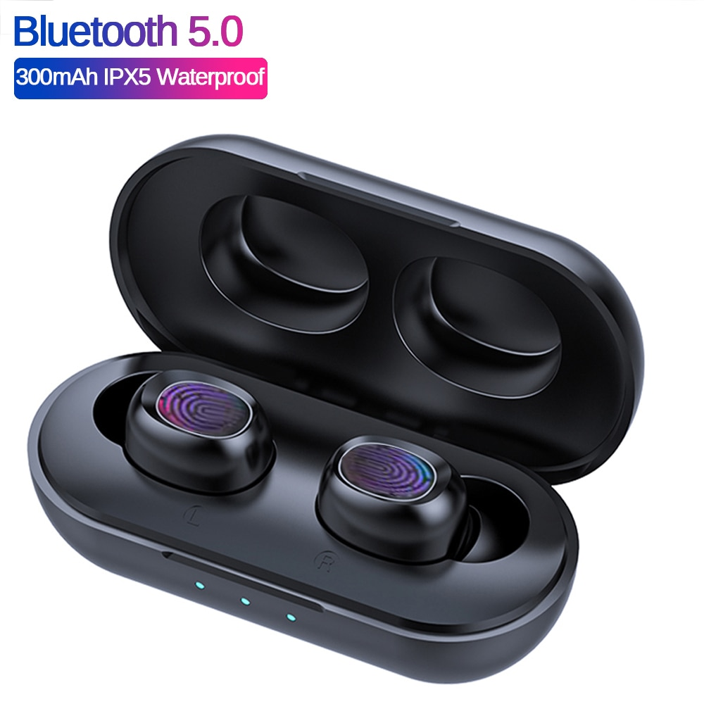 Auriculares TWS, inalámbricos por Bluetooth 5,0, Mini auriculares IPX5 impermeables de sonido estéreo HiFi, Auriculares deportivos genuinos