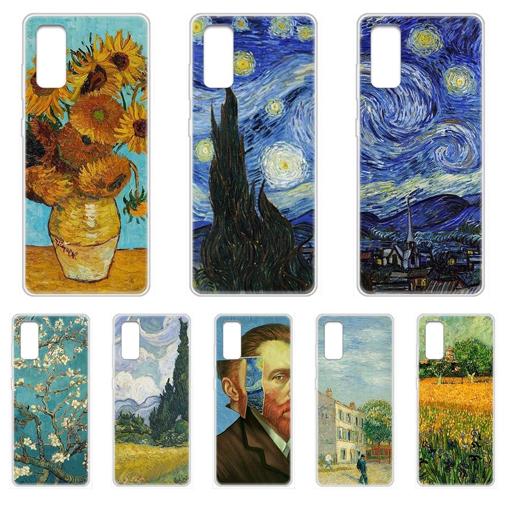 Van gogh kunst ölgemälde Telefon Fall abdeckung hull Für SamSung Galaxy S 7 8 9 10 11 20 ein 20e 50 51 70 71 Plus Rand Ultra