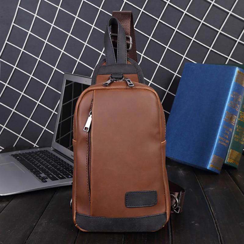 حقيبة الهاتف المحمول جنوب الصدر ، حقيبة كتف من الجلد الصناعي