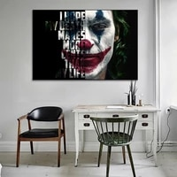 classic movie clown posters and print picture home decoration minimalism style black canvas painting for living room decor