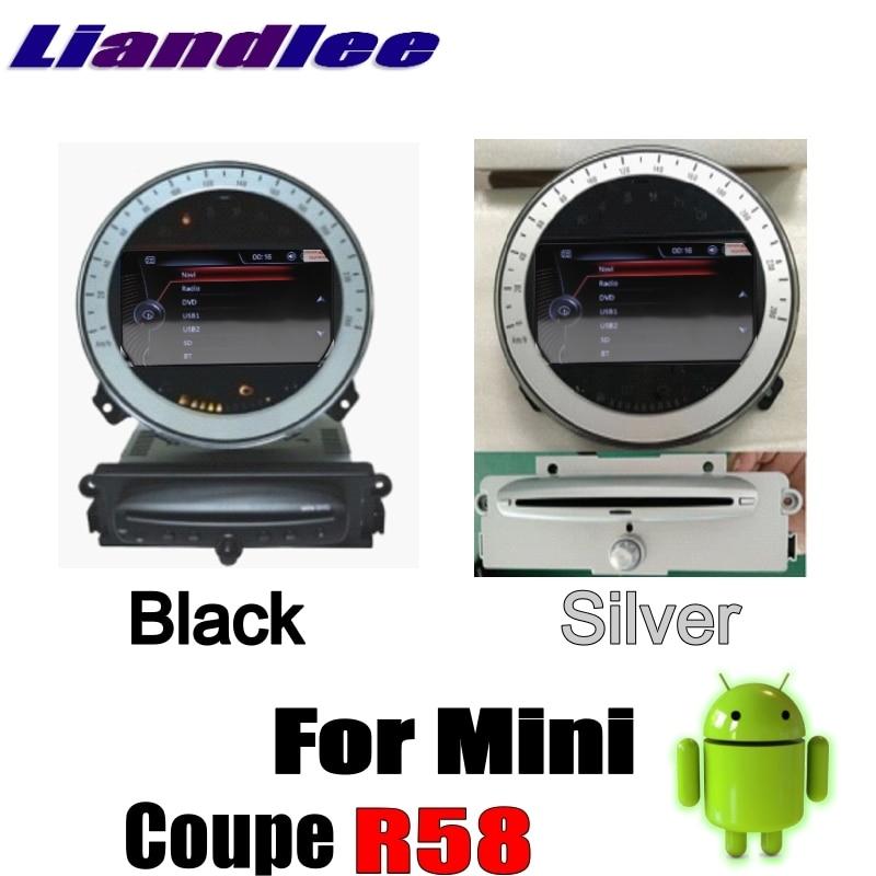 Liislee For Mini Coupe R58 2012~2017 Android No DVD Player Car Multimedia Player NAVI Car Radio Stereo GPS Map 4G SIM Navigation