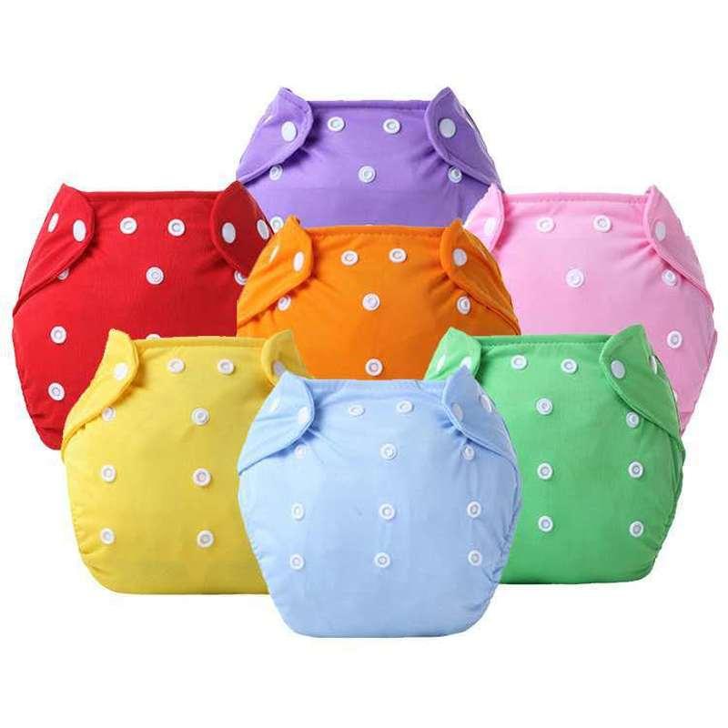 1 pc ajustável reutilizável bebê meninos meninas pano fraldas capas macias infantil lavável fraldas à prova de vazamento respirável pano fraldas