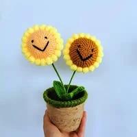 handmade simulation sunflower rose flowers plush plants home bedroom decoration christmas valentine gifts