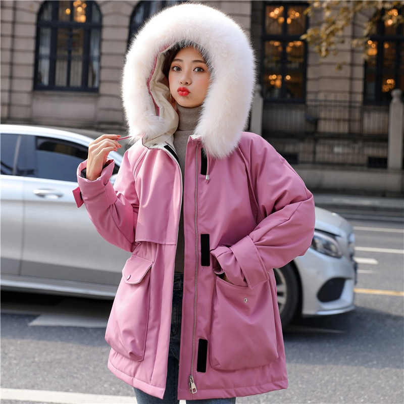 Large Size Natural Raccoon Fox Fur Hooded Winter Down Coat Women 90% White Duck Down Jacket Thick Warm Parkas Female Outerwear large real fur collar women winter coat thick warm hooded down jacket duck down loose long outwear coat outdoors